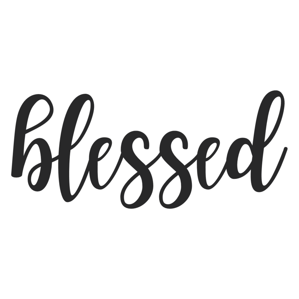 Blessed Cursive Metal Wall Art