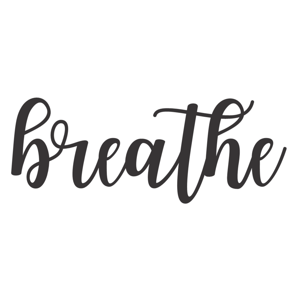 Breathe Cursive Metal Wall Art