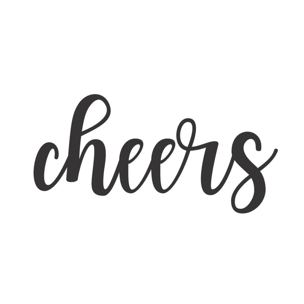 Cheers Cursive Metal Wall Art