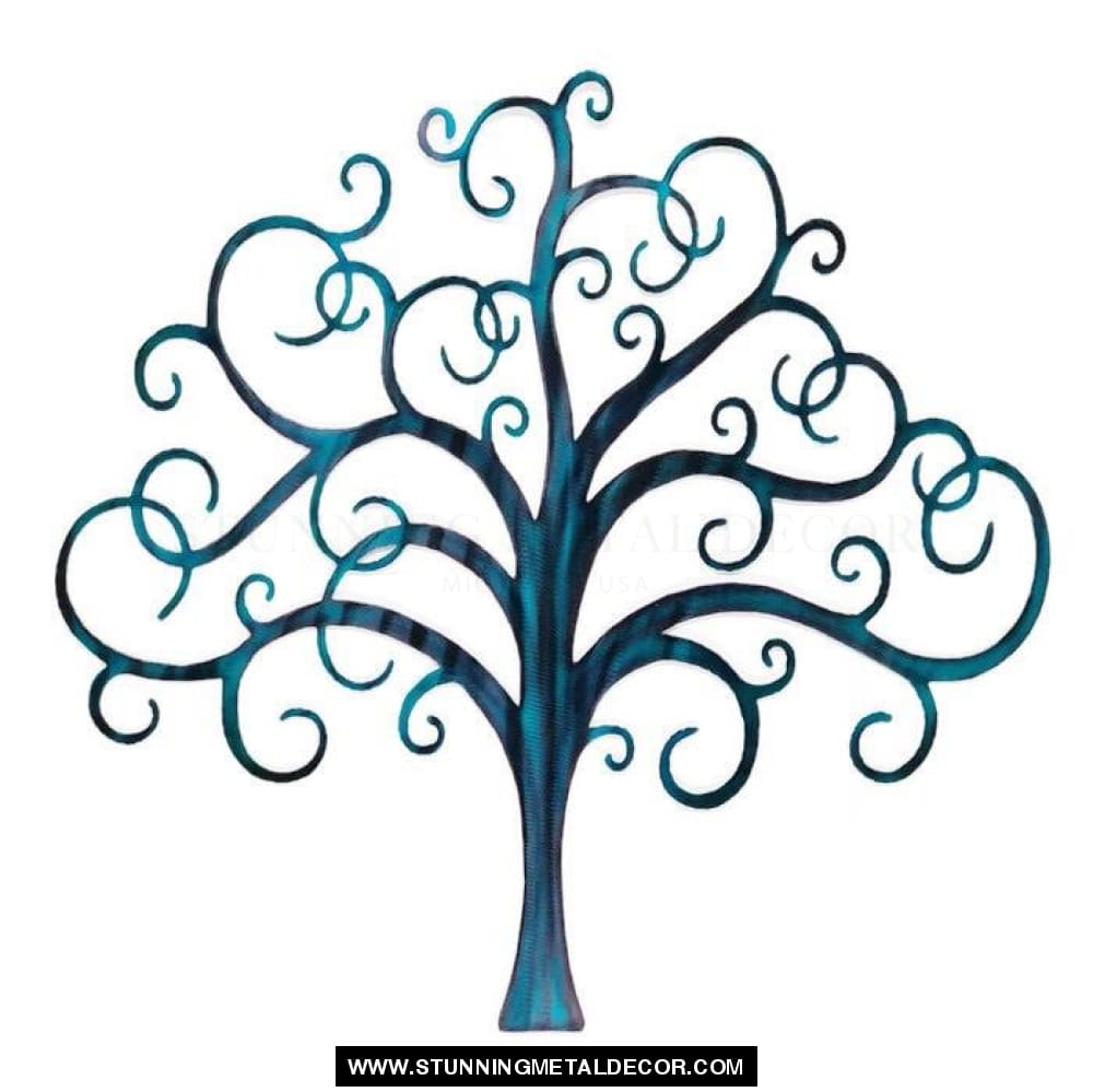 Curly Tree Of Life Metal Wall Art Trees