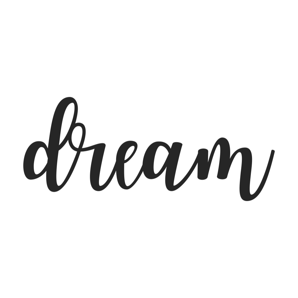 Dream Cursive Metal Wall Art