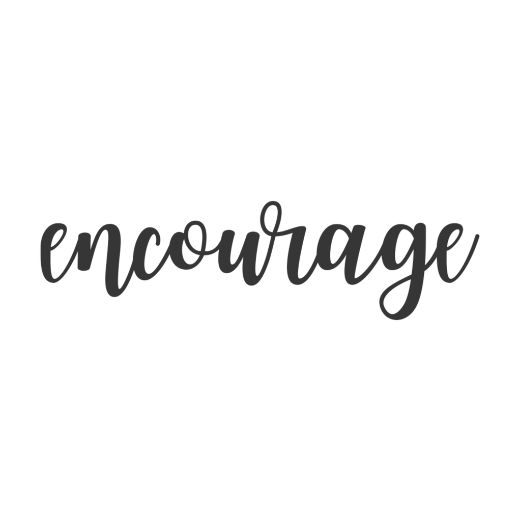 Encourage Cursive Metal Wall Art