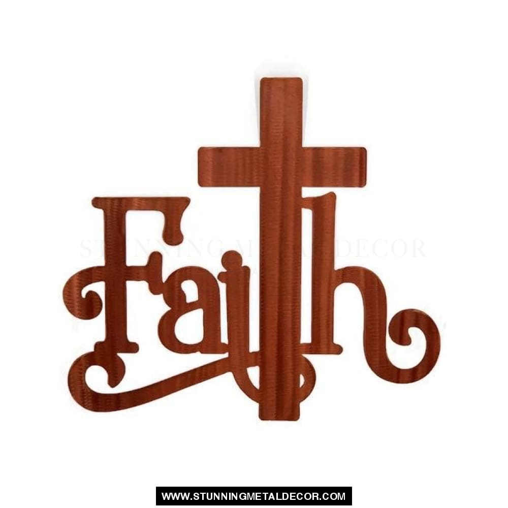 Faith Metal Wall Art Bronze / 6