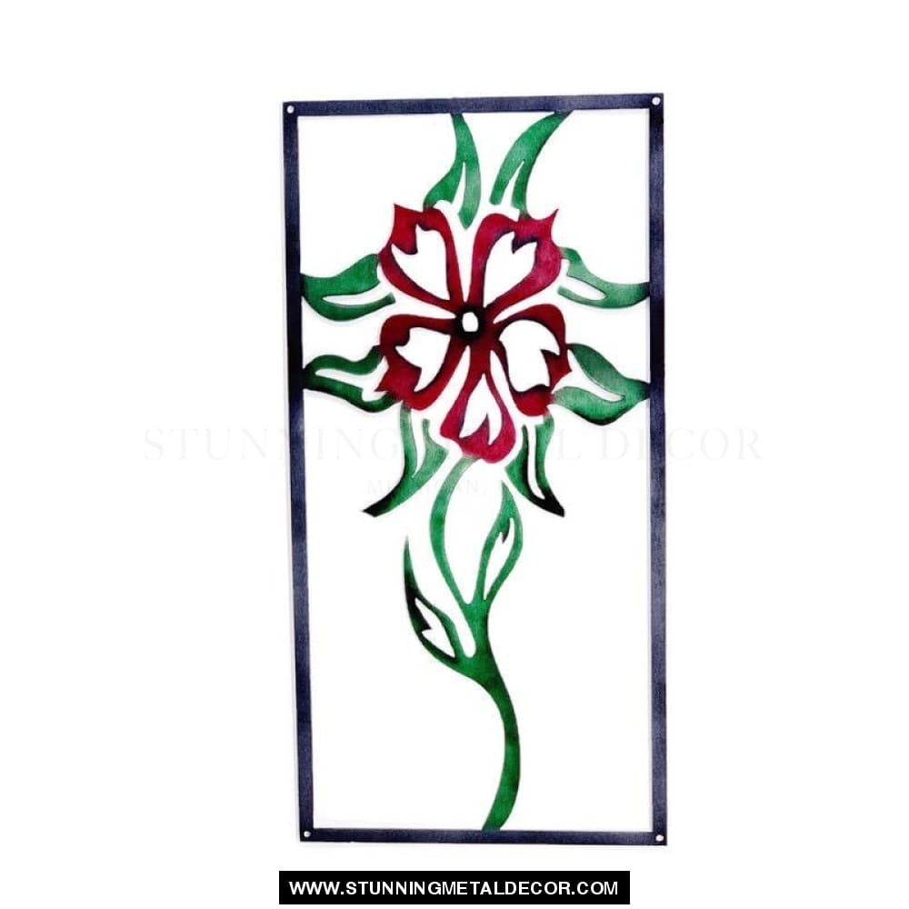Flower Trellis Sign Metal Wall Art Signs