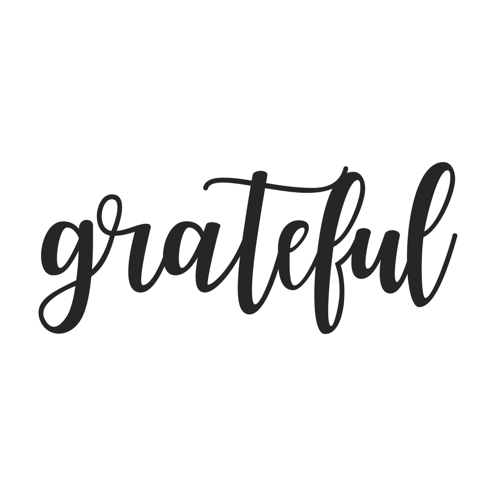 Grateful Cursive Metal Wall Art