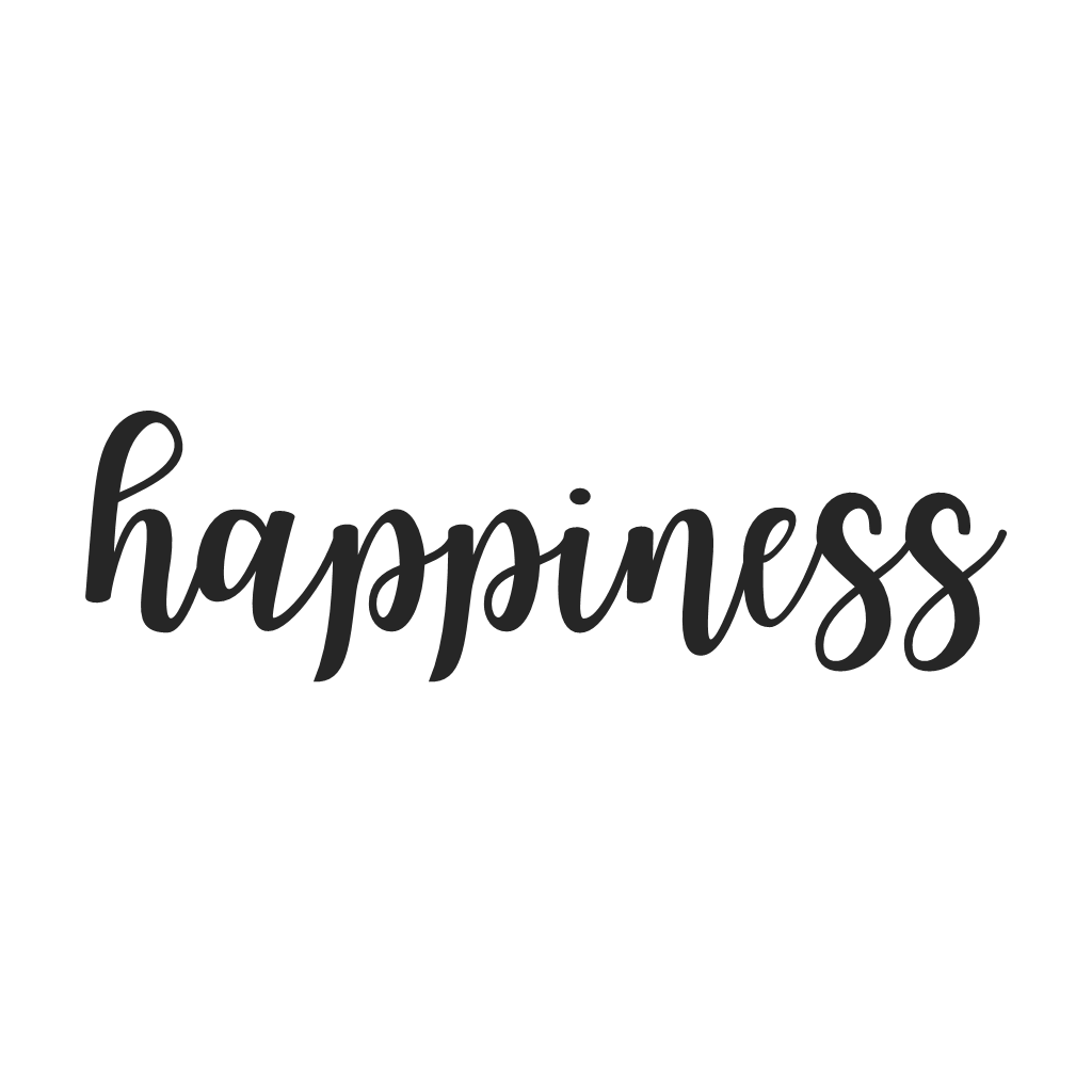 Happiness Cursive Metal Wall Art