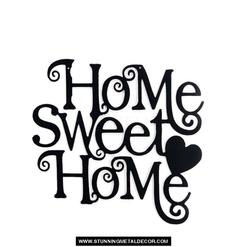 Home Sweet Word Sign Metal Wall Art Signs