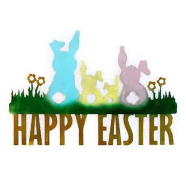 Happy Easter word metal wall art