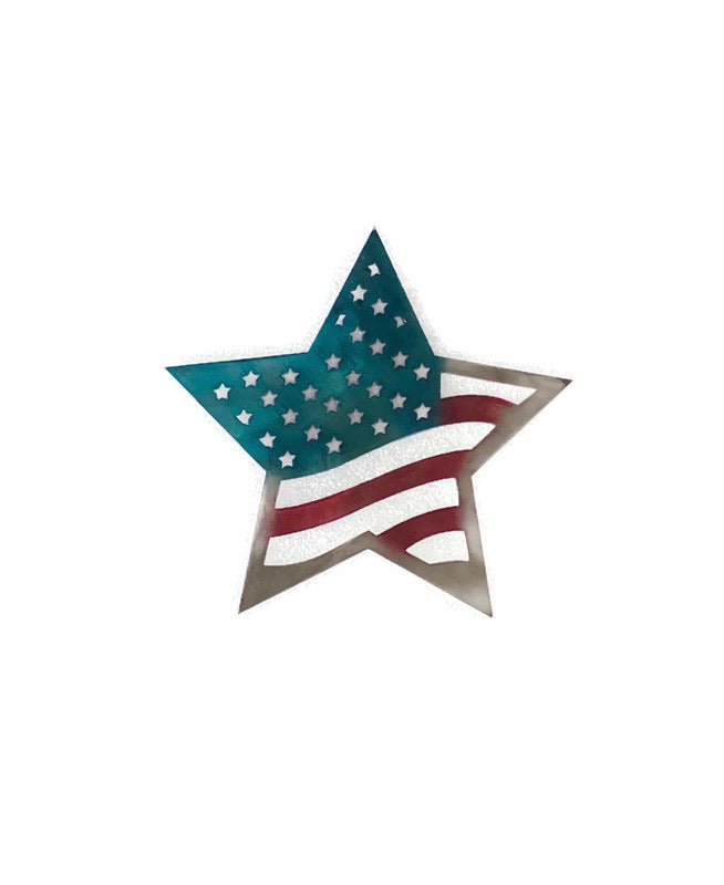 American Flag Star Metal Wall Art