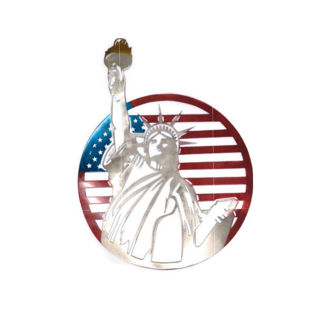 Lady Liberty Flag Metal Wall Art