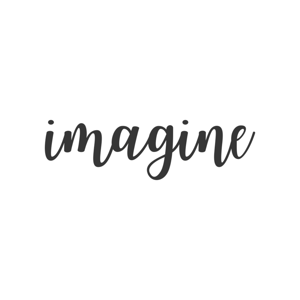 Imagine Cursive Metal Wall Art