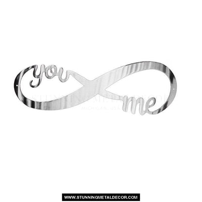 Infinity Sign Metal Wall Art Polished / 12 Signs