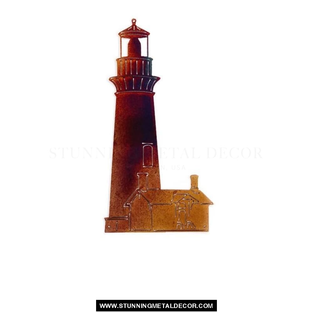 Lighthouse Metal Wall Art Copper Bronze Signs