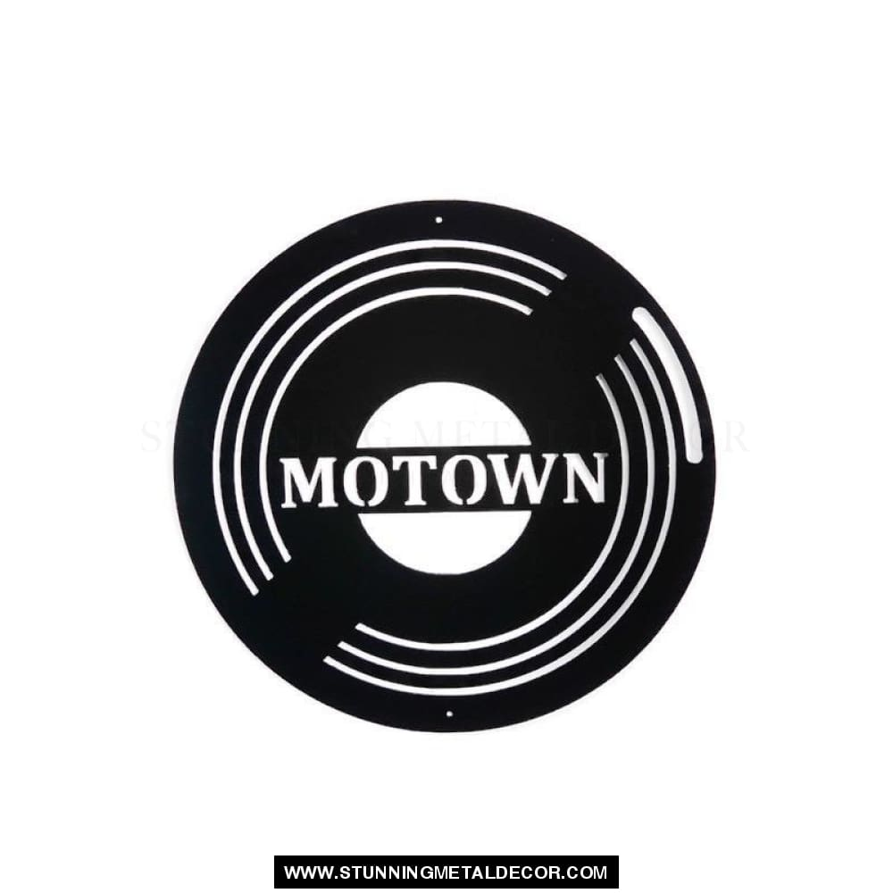 Motown Record Metal Wall Art Black Music