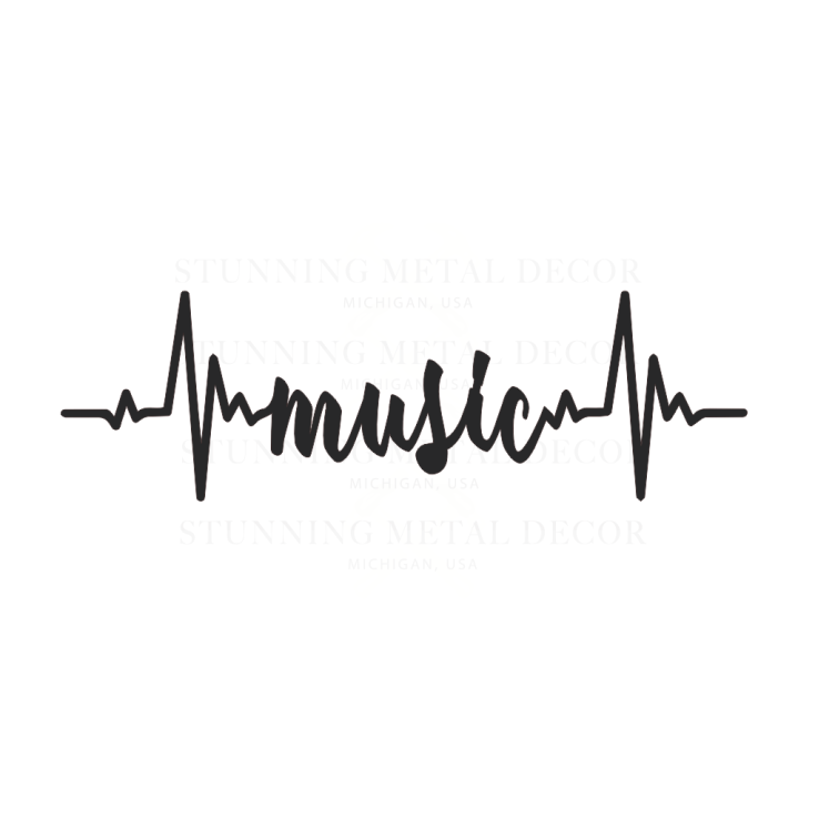 Music Pulse metal wall art