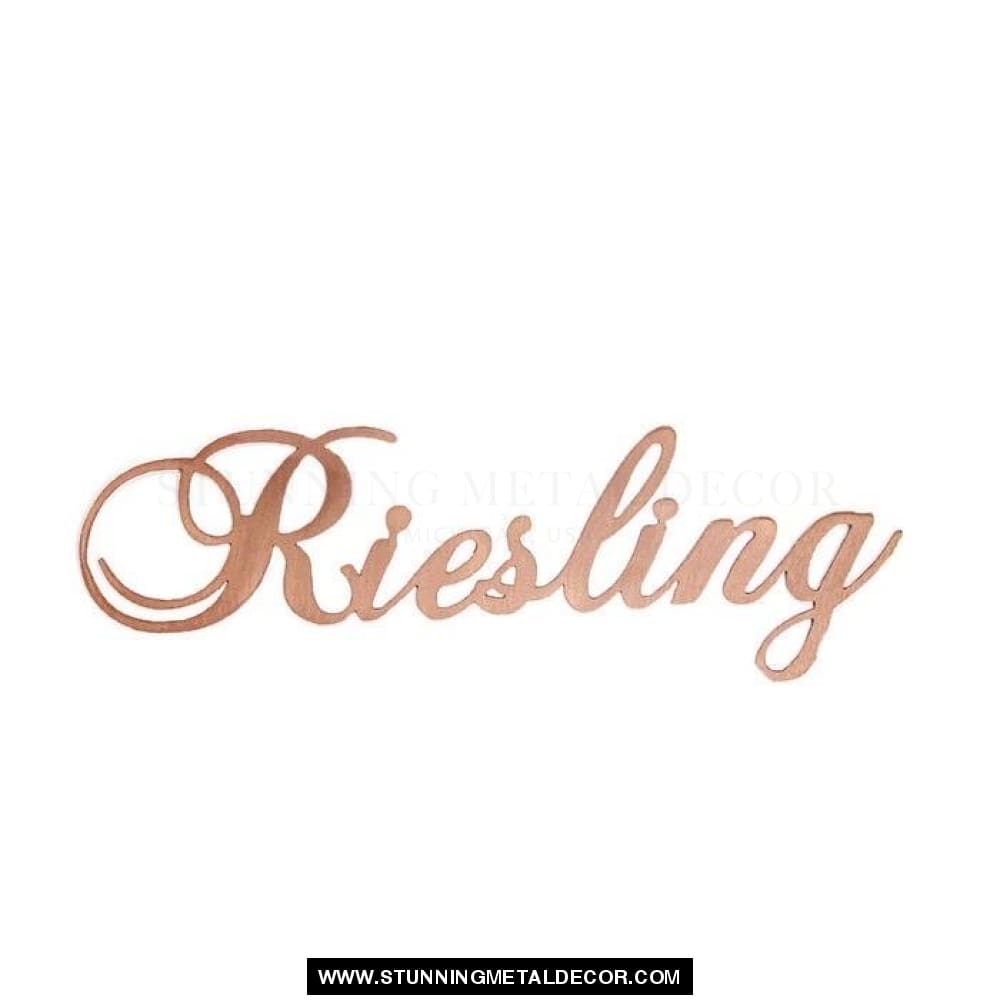 Riesling Metal Wall Art Signs