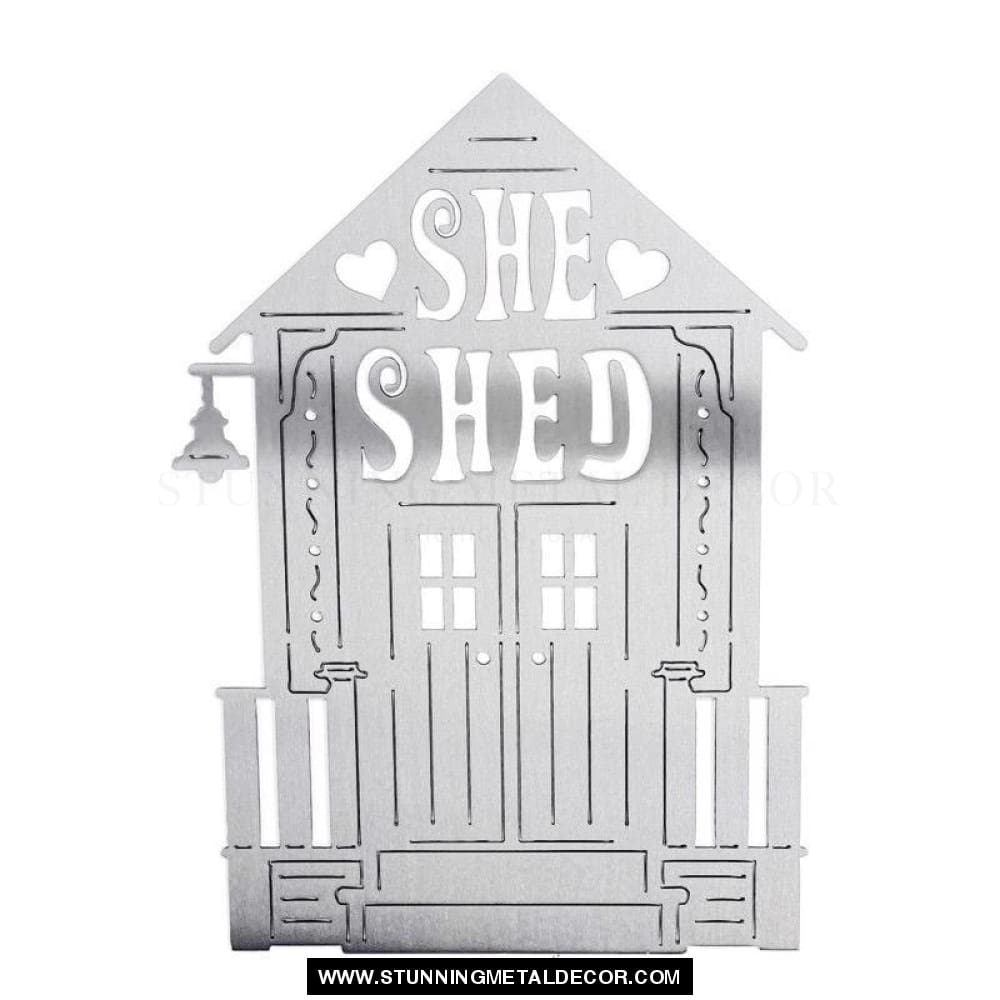 She Shed Metal Sign Wall Art Signs