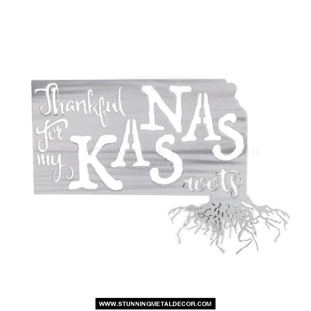Thankful For My Roots - Kansas Metal Wall Art Polished