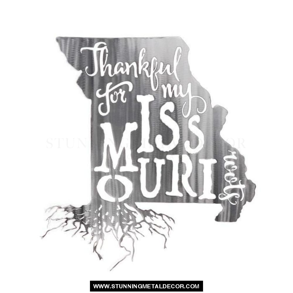 Thankful For My Roots - Missouri Metal Wall Art Polished