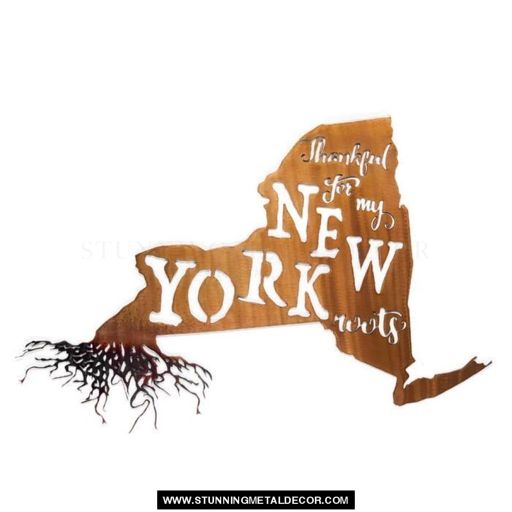Thankful For My Roots - New York Metal Wall Art Copper