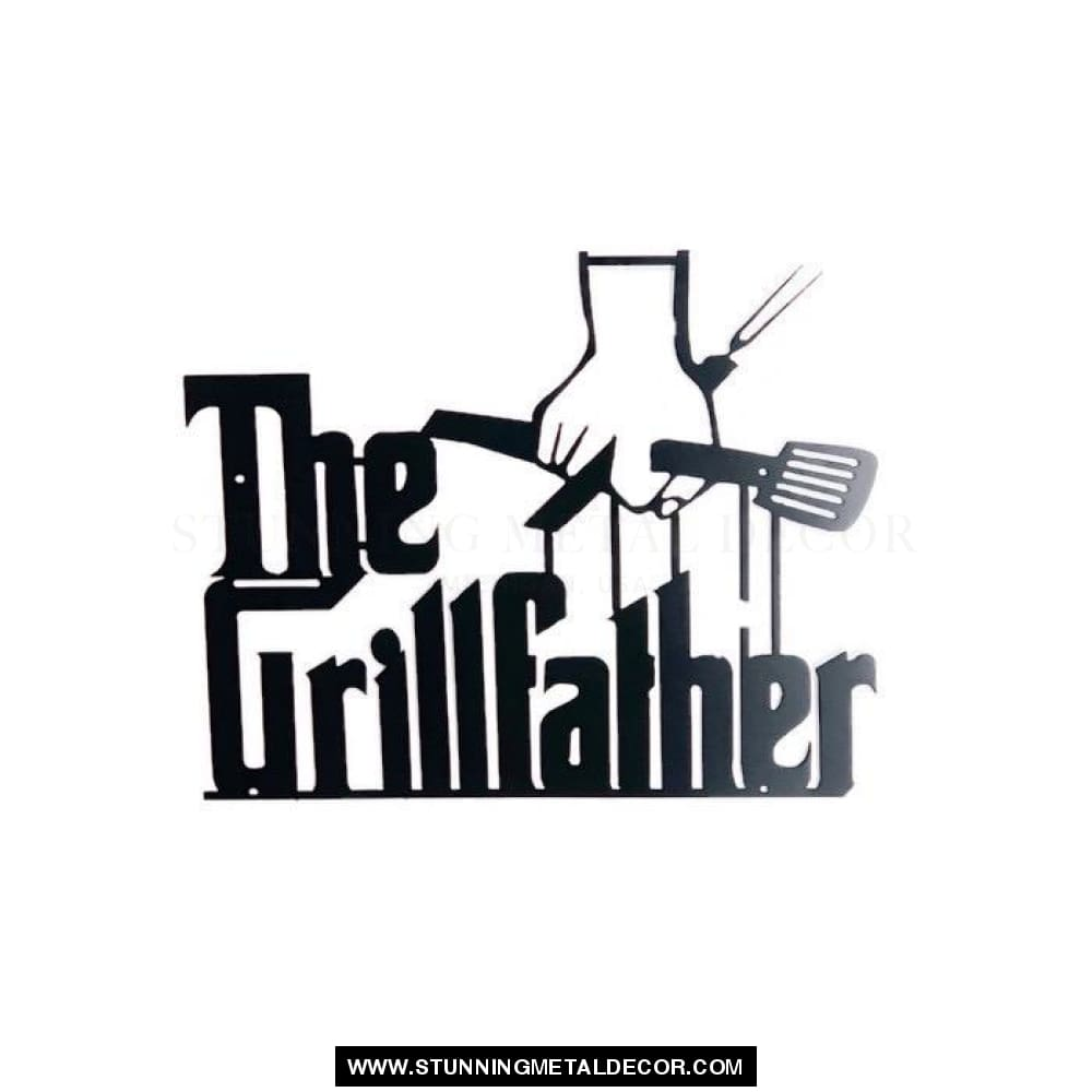 The Grillfather Metal Wall Art Black Signs