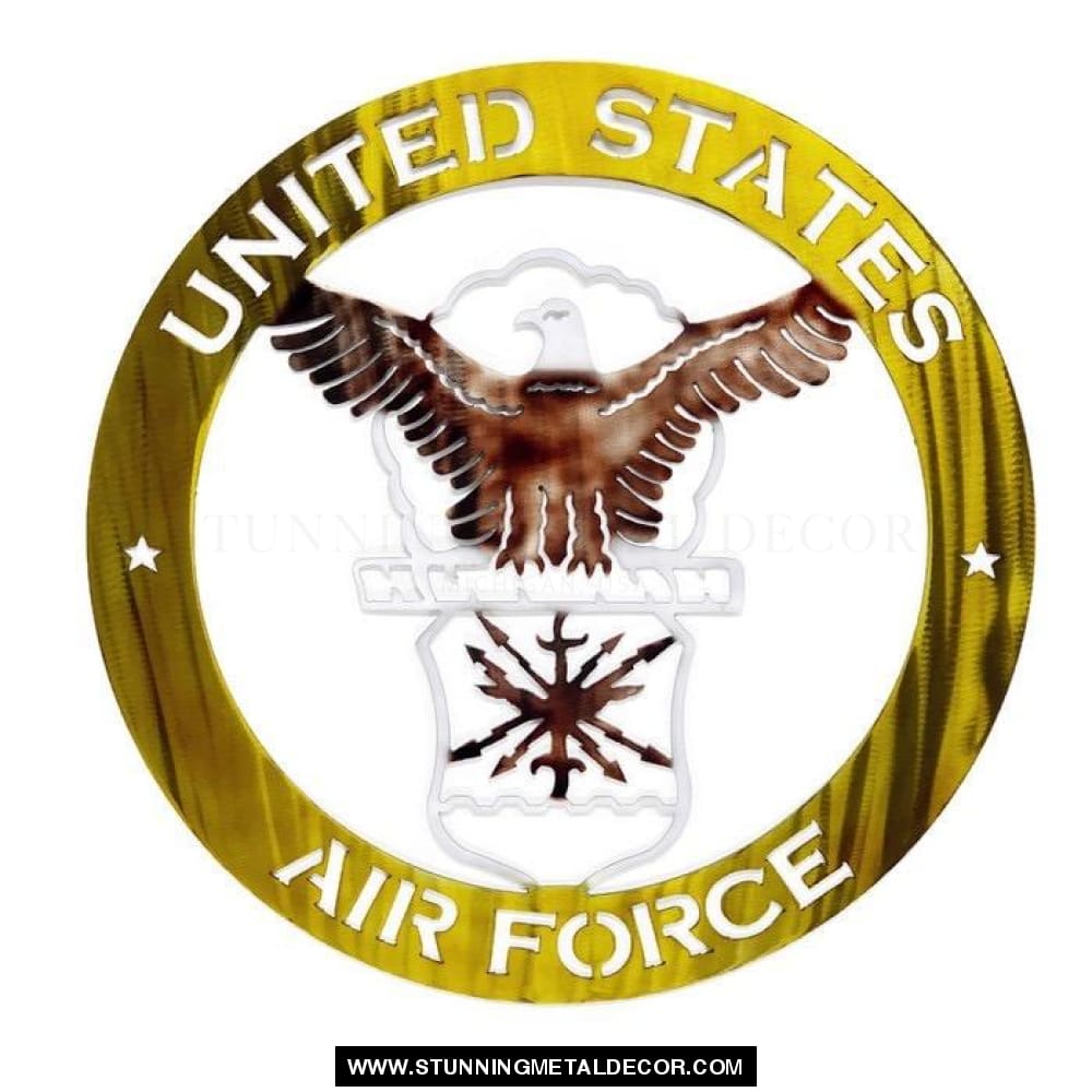 The United States Air Force Metal Wall Art Patriotic