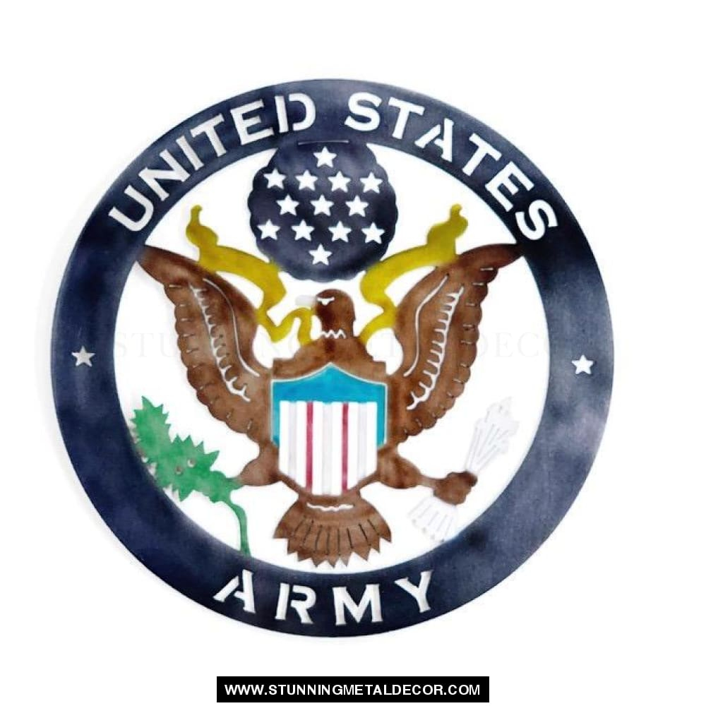 The United States Army Metal Wall Art Patriotic