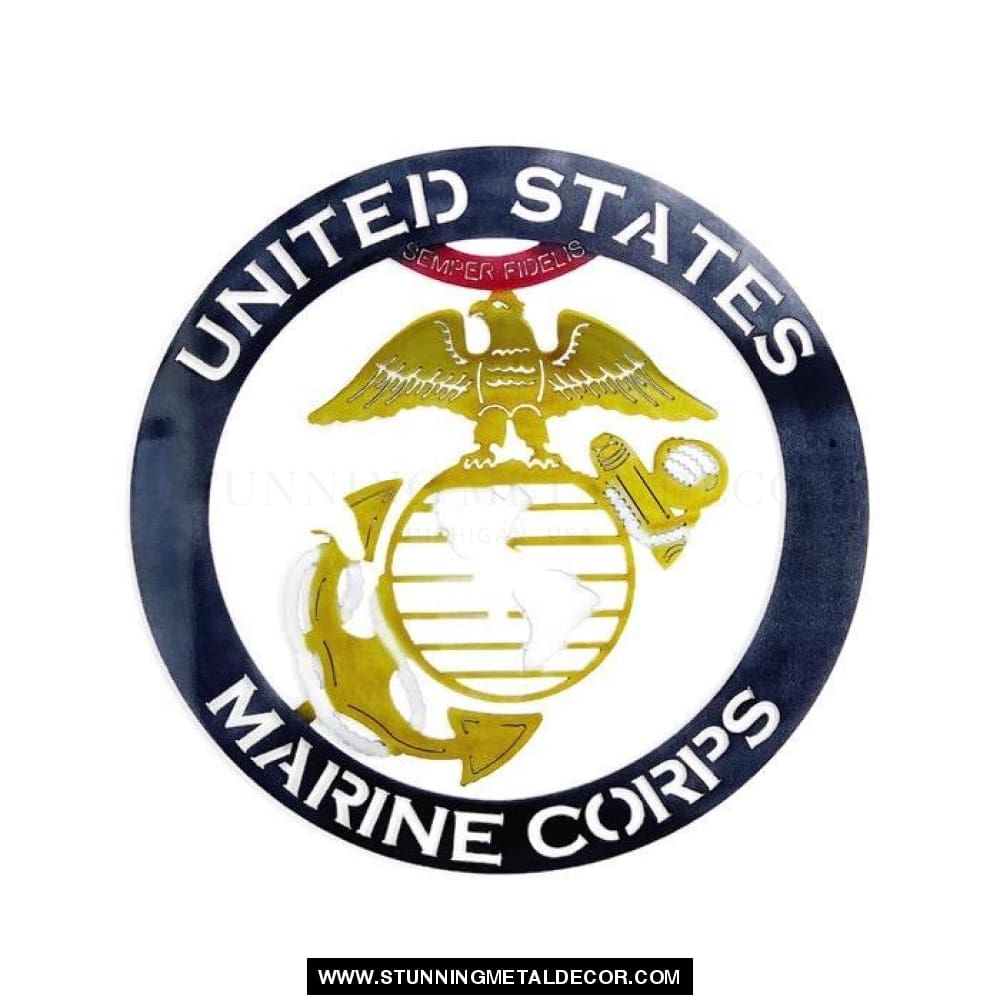 The United States Marine Corps Metal Wall Art Patriotic
