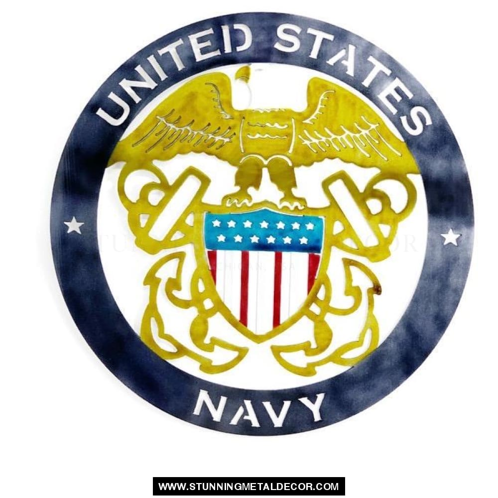 The United States Navy Metal Wall Art Patriotic
