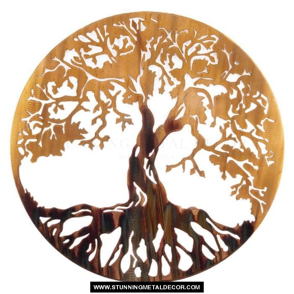 Tree Of Life Metal Wall Art Firestorm / 16 Trees