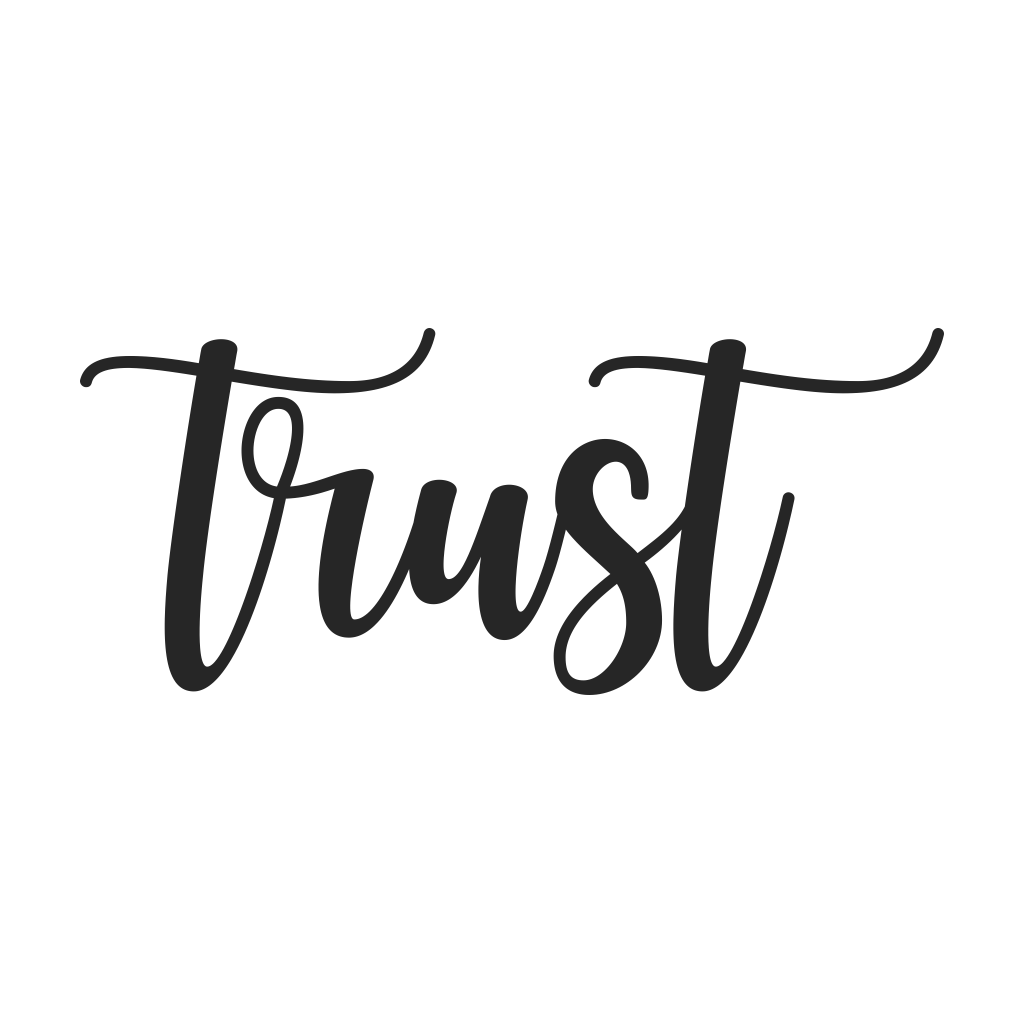 Trust Cursive Metal Wall Art