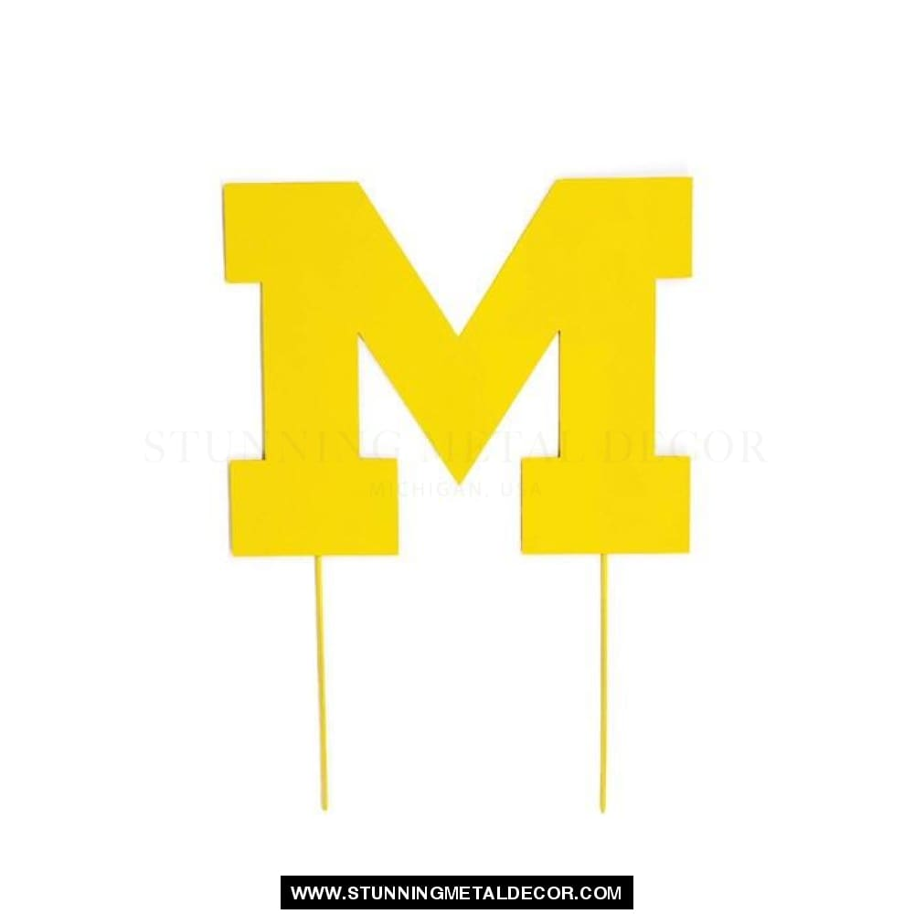 University Of Michigan Yard Art 12X10 / Yellow Sports
