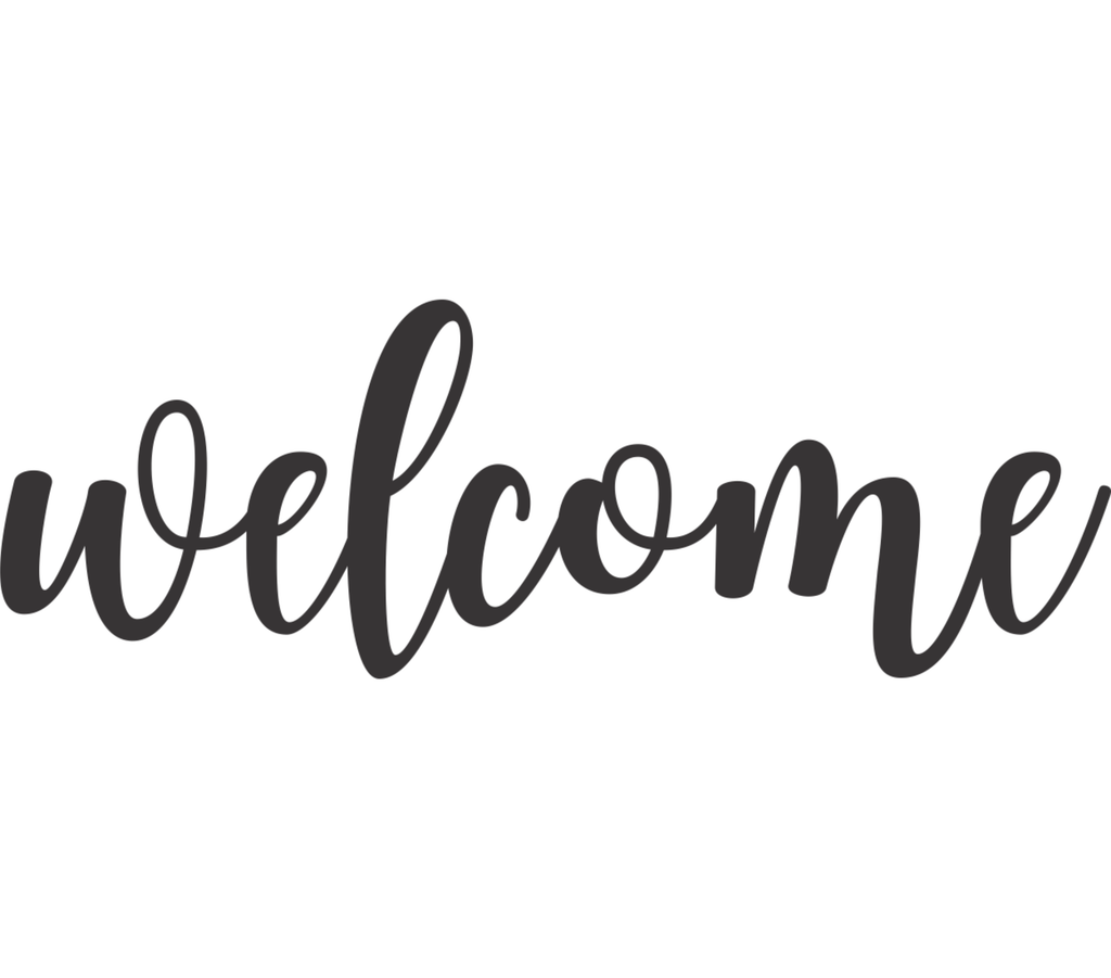 Welcome Cursive Metal Wall Art