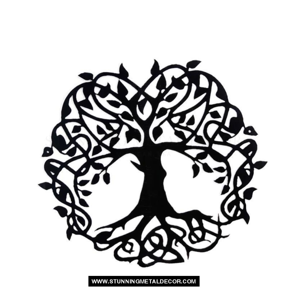 Wisdom Tree Of Life Metal Wall Art Black / 16 Trees