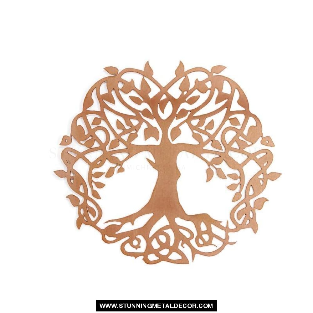 Wisdom Tree Of Life Metal Wall Art Copper / 16 Trees