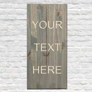 Rectangle Blank Slate - CNC Text Engraving