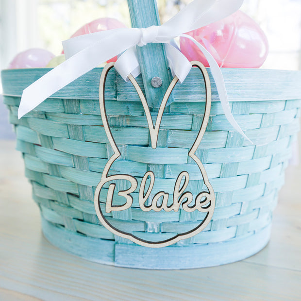 Easter Baskets Name Tags - Bunny (Customize)