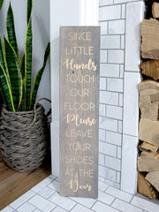 Since Little Hands Engraved Entryway Sign