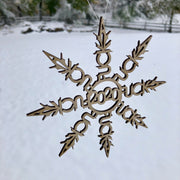Wooden F*ck 2020 Snowflake Ornament