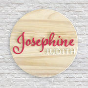 "Custom Name Sign - 12""-24"" Circles"