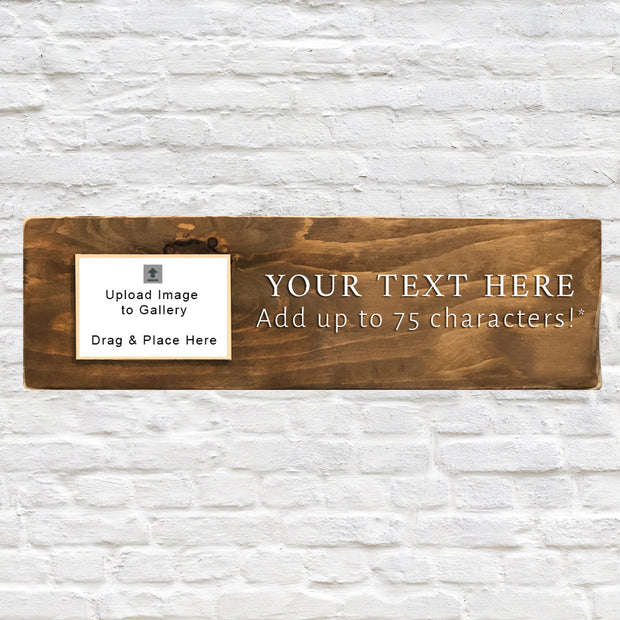 "Customizable Wood Photo Plank - 24""x7.25"""
