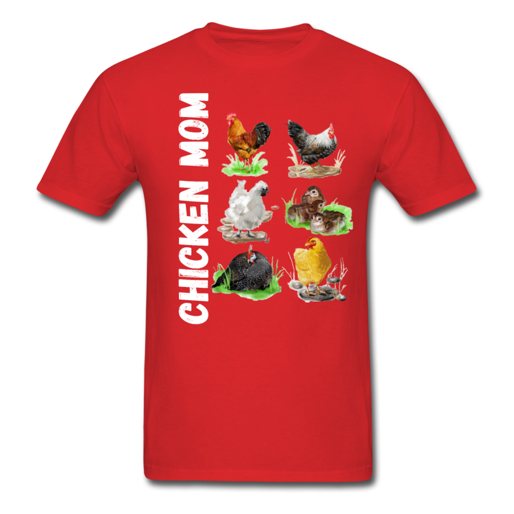 Chicken Mom - red