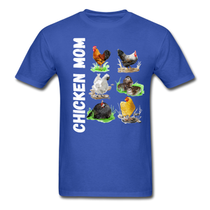 Chicken Mom - royal blue