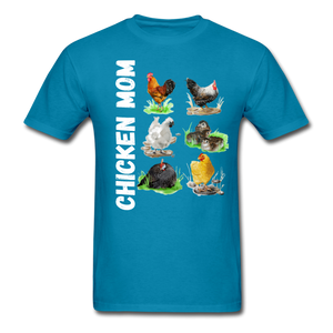 Chicken Mom - turquoise