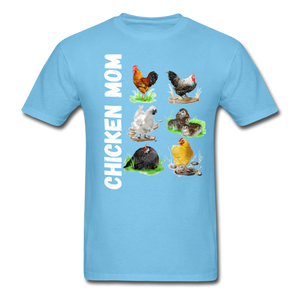 Chicken Mom - aquatic blue