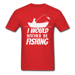 I would rather be fishing - red