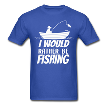 Load image into Gallery viewer, I would rather be fishing - royal blue