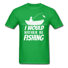 Load image into Gallery viewer, I would rather be fishing - bright green