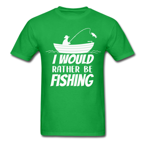 I would rather be fishing - bright green