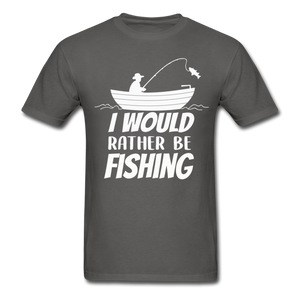 I would rather be fishing - charcoal